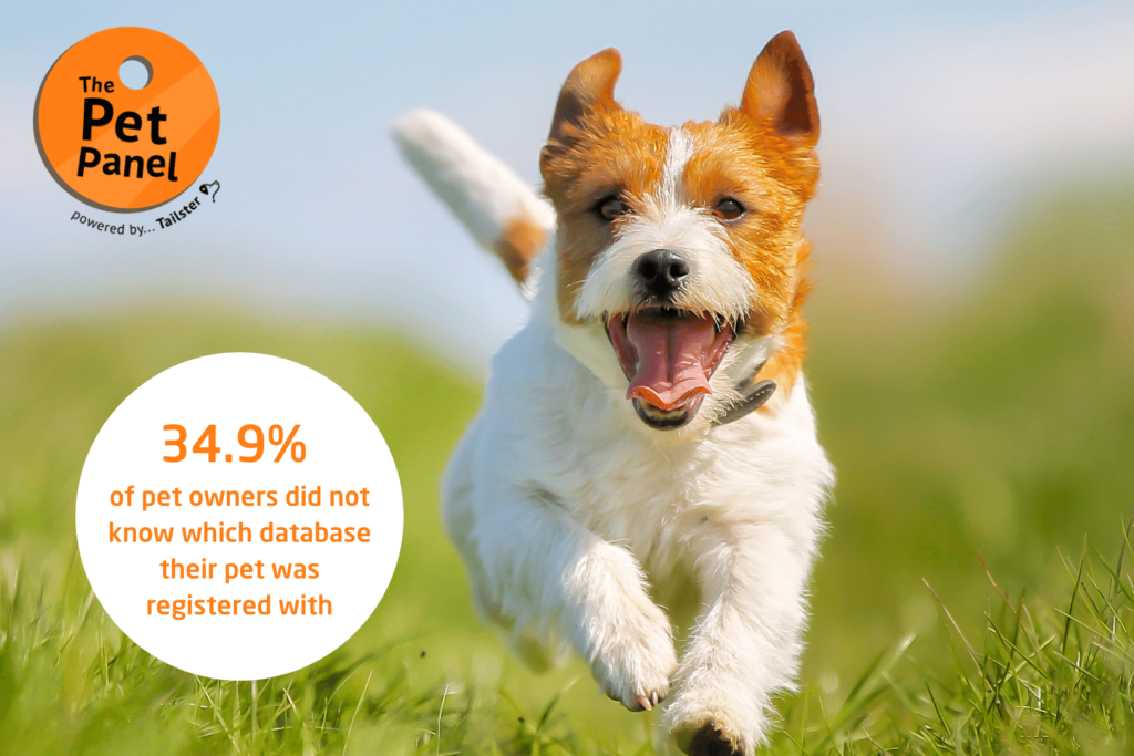 34.9 of pet owners did not know which database their pet was registered with